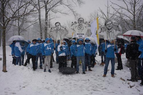 2018 FEBRUAR - ČLANI OPS CELJE SO SE PRIDRUŽILI PROTESTU PSS V LJUBLJANI